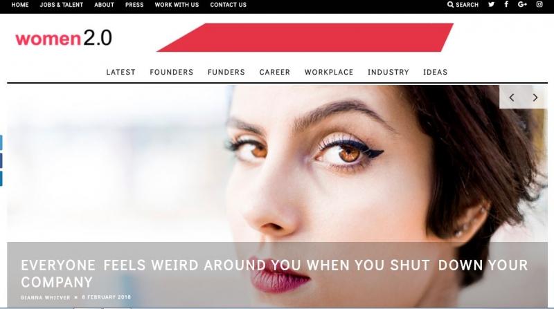 Website của Women 2.0
