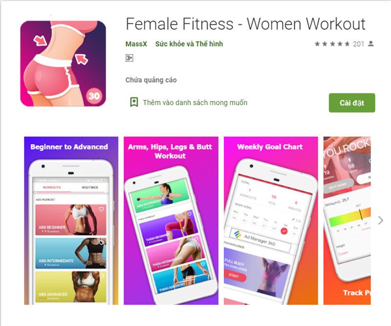 Women Workout at Home - Female Fitness