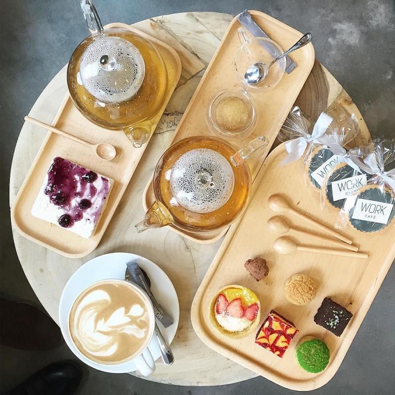 Và món ăn thức uống hấp dẫn tại Work cafe
