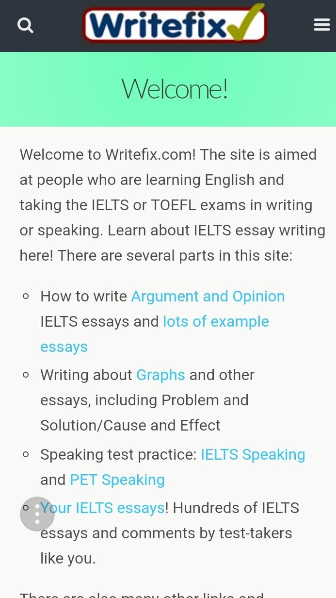 Writefix là trang web hướng dẫn bạn cấu trúc viết từng phần trong một bài writing rất kỹ và rõ ràng