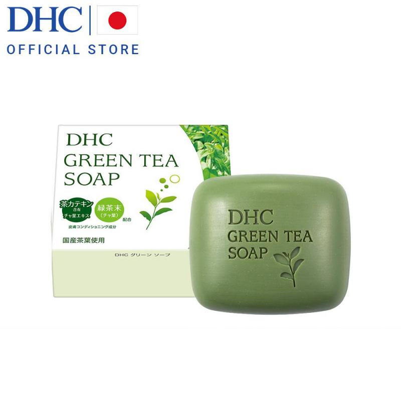Xà bông rửa mặt trà xanh DHC Green Tea Soap