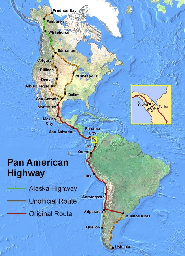 Xa lộ Liên Mỹ trên bản đồ