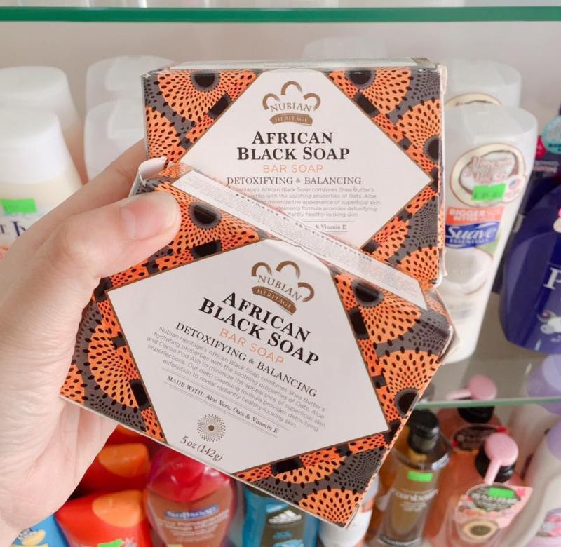 Xà Phòng Đen Trị Mụn Nubian Heritage African Black Soap