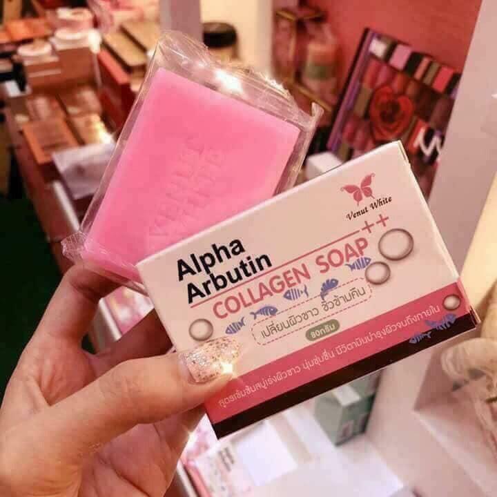 Xà bông tắm trắng Alpha Arbutin Collagen Soap