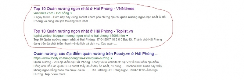 Phát hiện trang web vi phạm bản quyền bài viết của Toplist mà còn đứng top trên