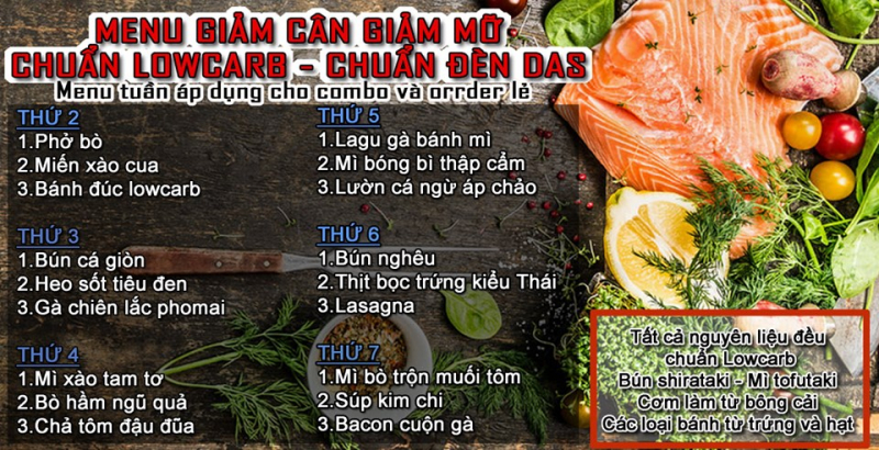 Combo Lowcarb theo tuần