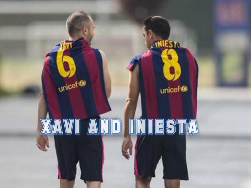 Xavi Hernandez và Andreas Iniesta