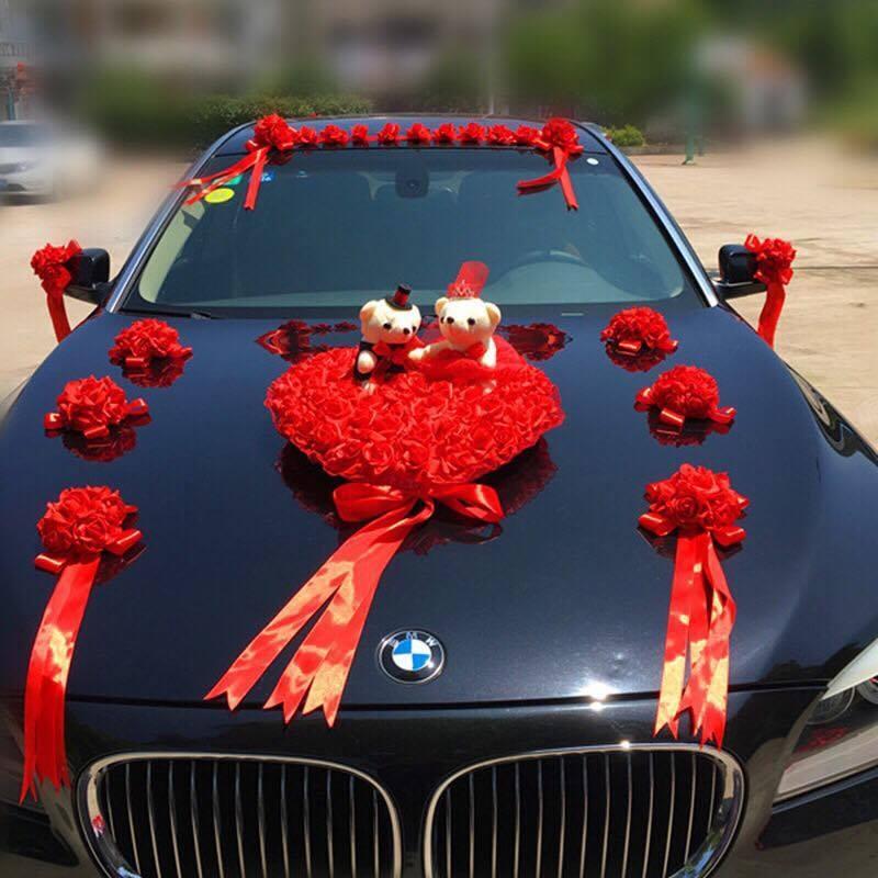Xe cưới được trang trí đặc biệt kiểu thời thượng