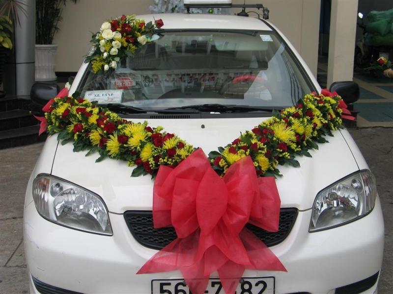 Xe hoa được trang trí theo yêu cầu của khách hàng
