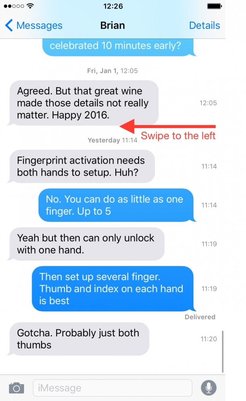 Xem tin nhắn gửi đi khi nào