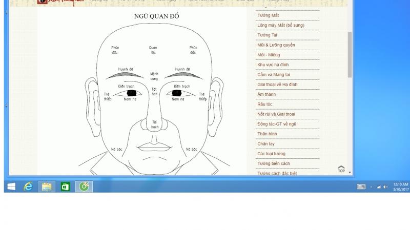Hình ảnh xem tướng trong Ma Y Thần Tướng tại Web Xemtuong.net