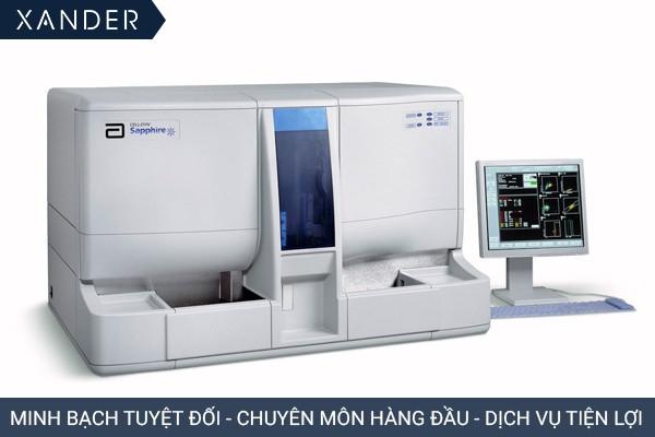 Máy xét nghiệm Abbott Sapphire phục vụ cho các xét nghiệm huyết học vượt trội với khả năng đếm chính xác, nhanh chóng và hoàn toàn tự động