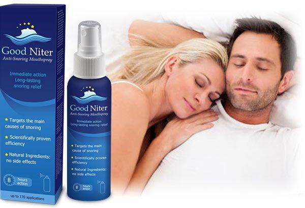Xịt chống ngáy ngủ Good Niter có chứa các thành phần đặc biệt có tác động trực tiếp 3 khu vực nơi chứng ngáy có thể xảy ra: Miệng, cổ họng hoặc mũi, tác động tới từng vị trí, làm dịu chứng ngáy ngủ một cách hiệu quả