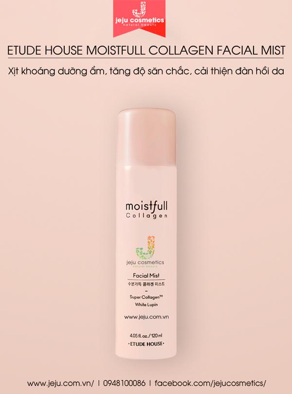 Xịt khoáng Etude House Moistfull Collagen Facial Mist