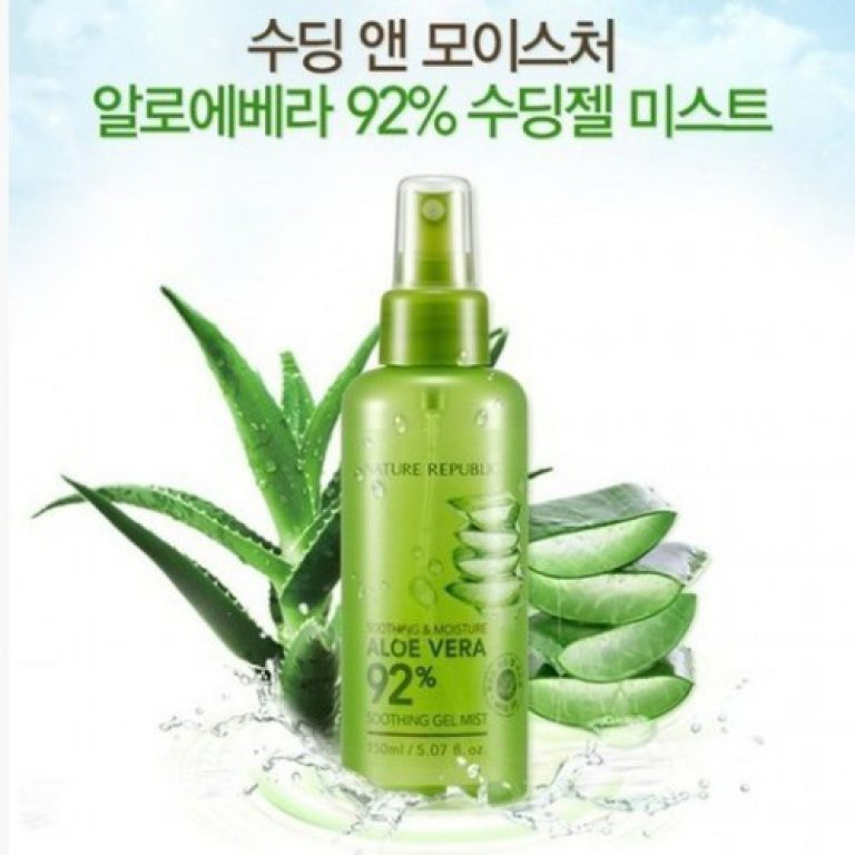 Xịt khoáng Nature Republic Soothing & Moisture Aloe Vera 92% Soothing Gel Mist