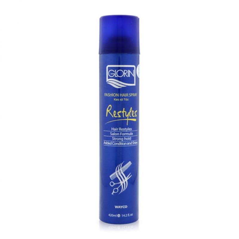 Xịt tạo kiểu tóc cứng Glorin Fashion Hair Spray 450ml