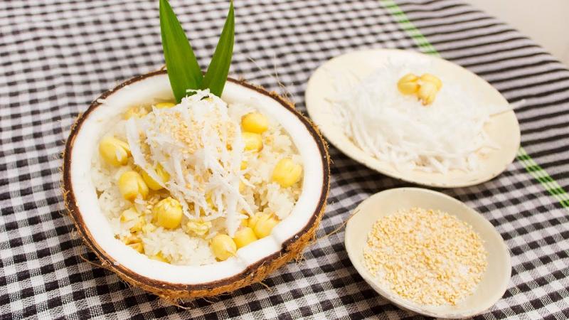 Xôi hạt sen nước cốt dừa