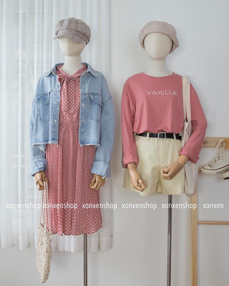Shop chuyên về quần áo cho tuổi teen nên đa số quần áo mang phong cách cute dễ thương