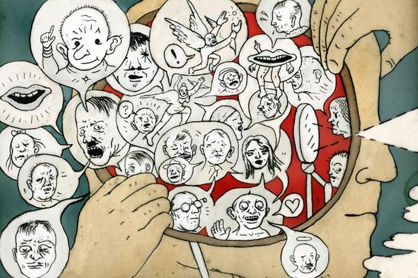 Ảnh minh họa cho việc ảo giác lời nói