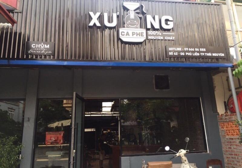 Mặt chính của Xưởng cà phê