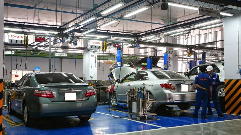 Xưởng dịch vụ Toyota Hà Đông