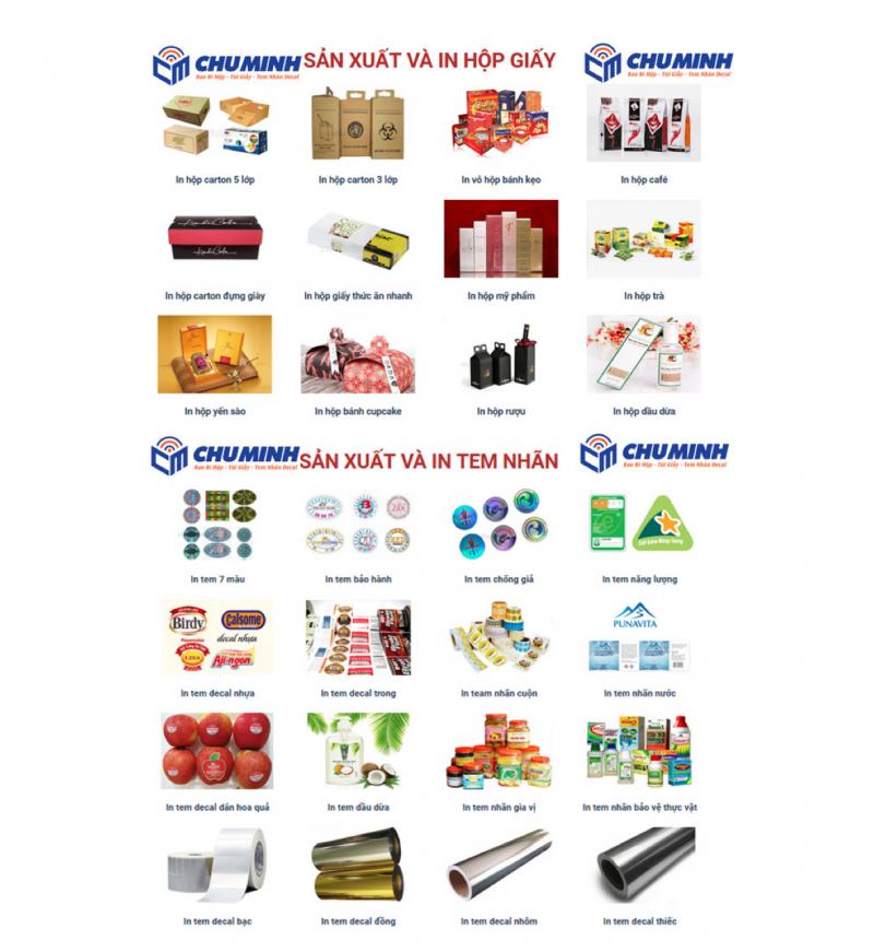 Xưởng in ấn Chú Minh: Chuyên làm tem nhãn, bao bì sản phẩm ở HCM