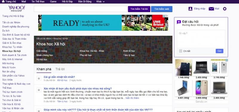 Yahoo Answers phiên bản tiếng Việt