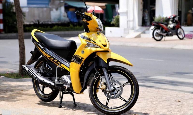 Yamaha Sirius màu vàng trẻ trung, cá tính