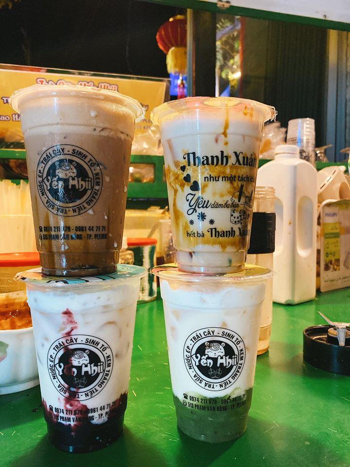 Yến Hii còn chuyên về các loại trà sữa, thức uống được thực khách cực kỳ yêu thích