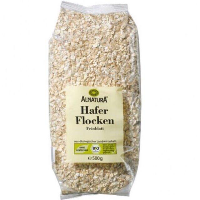 Yến mạch siêu sạch Alnatura Hafer Flocken cán vụn của Đức