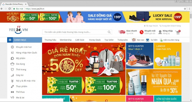 Website của Yes24