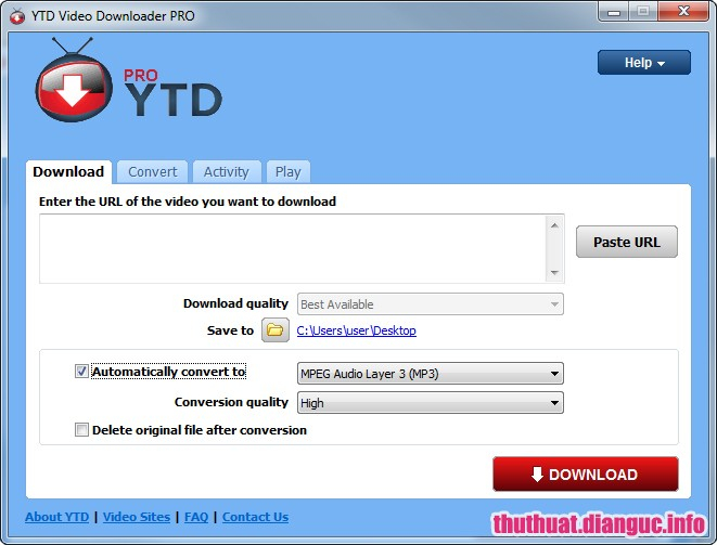 Phần mềm YTD Video Downloader
