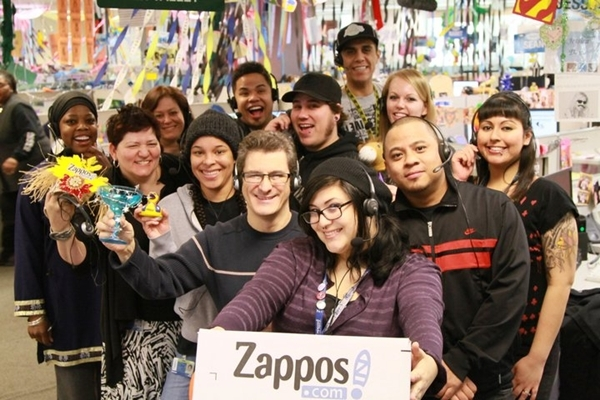 Nhân viên tại Zappos
