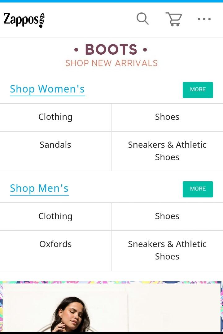 Trang web bán hàng uy tín ở Mỹ ZAPPOS.