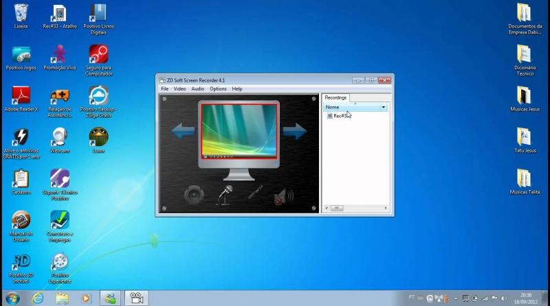 Phần mềm quay video game ZD Soft Screen Recorder khi bắt đầu khởi động