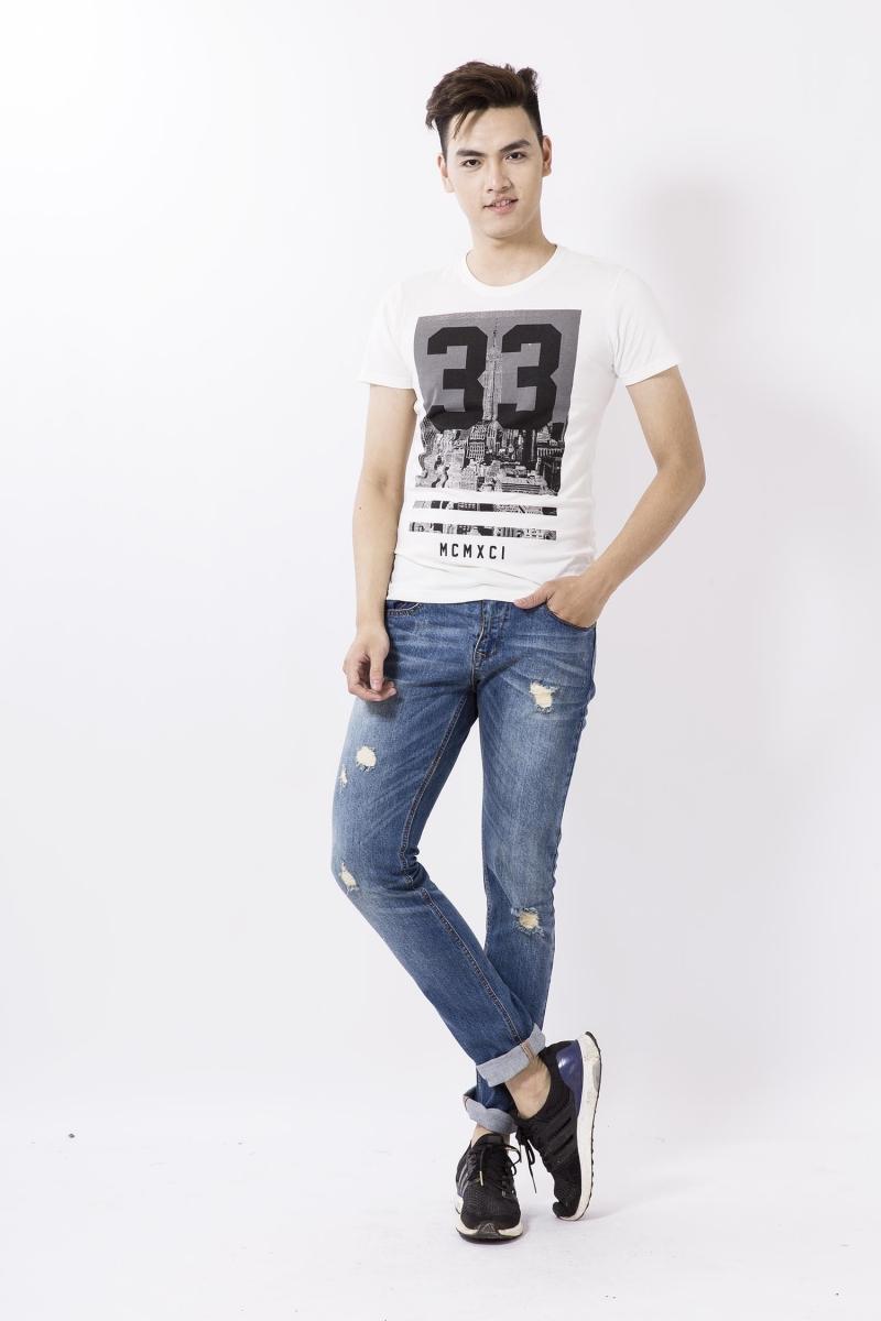 Quần jeans nam dáng cơ bản - tại ZENDA