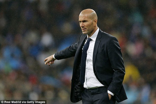 HLV Zinedine  Zidane của CLB Real Madrid