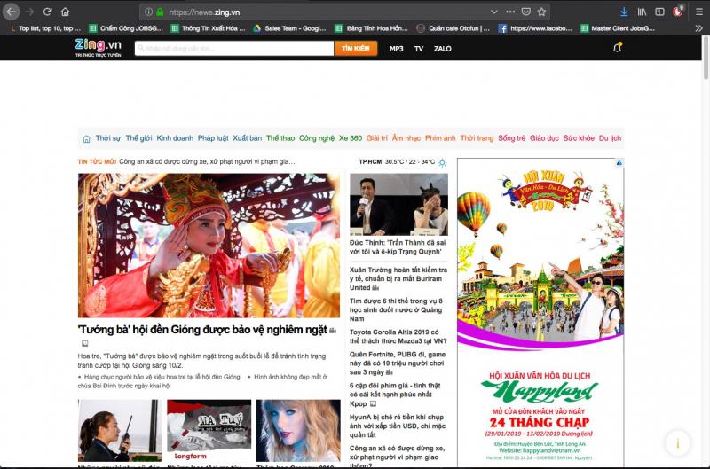 Website Zing.vn