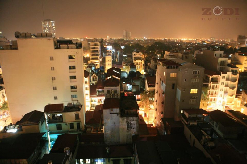 View ngắm Hà Nội từ Zodi